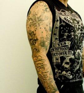 Tattooentfernung am Oberarm. LASER ÄSTHETIK INSTITUT, Wir beraten Sie gerne.